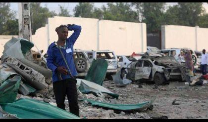 ارتفاع كبير في عدد ضحايا تفجيرين بالعاصمة الصومالية