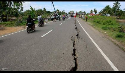 زلزال إندونيسيا يغير سطح جزيرة لومبوك