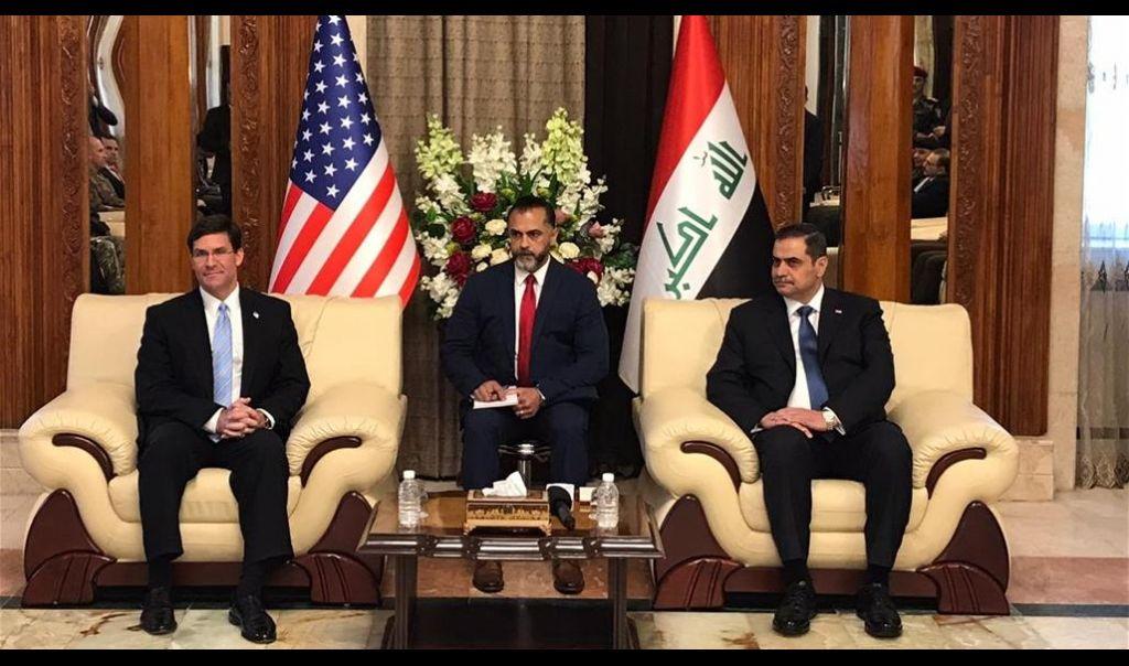 وزير الدفاع الامريكي من بغداد: وجودي هنا اليوم دعم مطلق للعراق