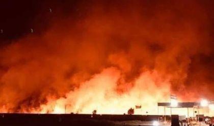 اللواء 30: الحريق في مقرنا بسهل نينوى مسيطر عليه