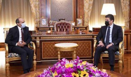 رئيس إقليم كوردستان يبحث عدة محاور مع القنصل المصري
