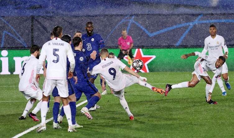 تعادل ايجابي بين ريال مدريد وتشيلسي في شبه نهائي دوري الأبطال