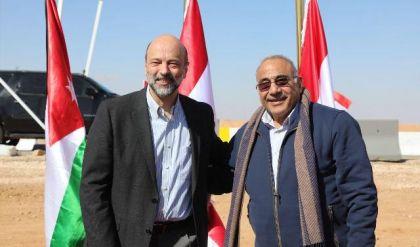 عبد المهدي يلتقي نظيره الأردني عند الحدود العراقية الأردنية