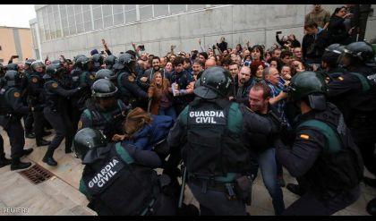 إدانة دولية واسعة لأعمال العنف في كتالونيا