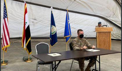 مراسم تسلُّم القوات العراقية قاعدة التاجي من التحالف الدولي