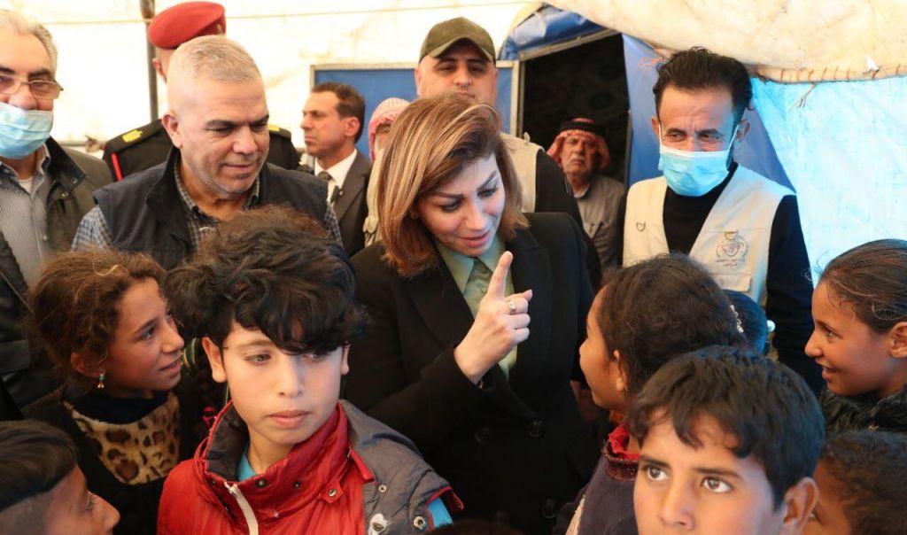 وزيرة الهجرة في مخيم الجدعة 5 التابع لنينوى