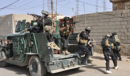 مكافحة الإرهاب تعلن سيطرتها على حي اليرموك الثانية غربي الموصل