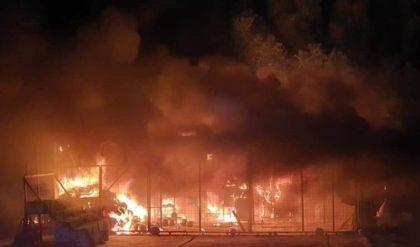 اندلاع حريق في قاعدة الإمام علي الجوية بمحافظة ذي قار