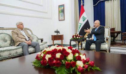 رئيس الجمهورية يبحث مع رئيس الحشد تعزيز سلطة الدولة وحماية البعثات الدبلوماسية