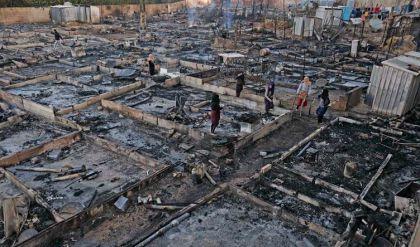 السلطات اللبنانية تعتقل ثمانية أشخاص بتهمة إحراق مخيم للاجئين السوريين