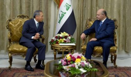 صالح يدعو الشركات الكورية للمساهمة في اعادة اعمار العراق