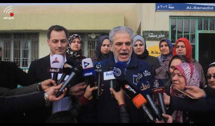نائب رئيس الوزراء البلجيكي يزور مع وفد اوربي مدينة الموصل.. ويؤكد  دعم بلاده لعودة الاستقرار اليها