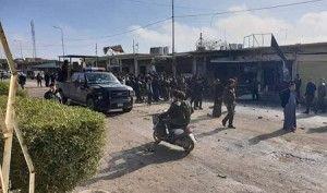استشهاد واصابة 13 شخصاً بتفجير مفخخة في منطقة رأس الجادة بقضاء تلعفر