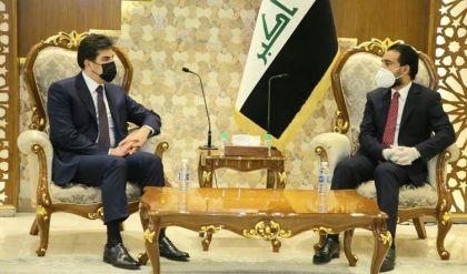بعد الكاظمي.. نيجيرفان بارزاني يجتمع مع الحلبوسي في بغداد