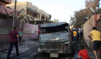 تضرر عدد من المنازل والعجلات المدنية نتيجة احتراق صهريج في الموصل
