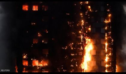لندن.. قتلى جراء حريق برج