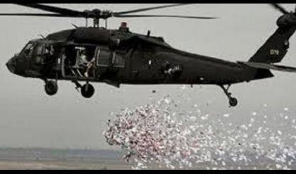 الطيران الحربي يلقي مئات الآلاف من المنشورات في أيمن الموصل
